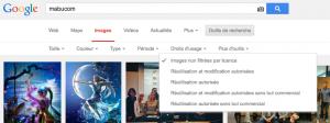 Images sans droit sur Google