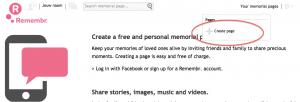 Créer une page commémorative personnelle - simple et gratuit.
