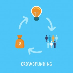 Illustration du fonctionnement du crowdfunding