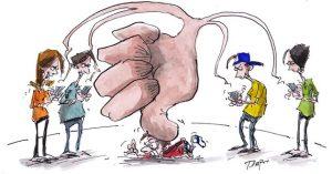 Illustration de cyber-harcèlement